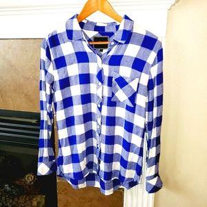RAILS Hunter Blue Plaid Button Down Flannel Shirt